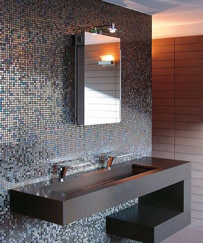 Quale rivestimento scegliere per il bagno pillole di t p - Bagno moderno mosaico ...